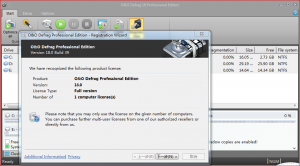 O&O Defrag 18 build 39 Professional安装注册图文教程